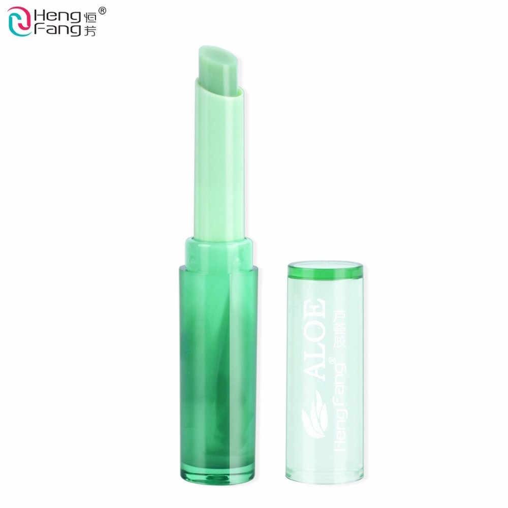 Aloe Vera Lip Balm Hijau Warna Sihir Berubah Suhu Kecantikan Lip Balm Tahan Lama Pelembab Lipstik Makeup Bibir BalmTSLM2