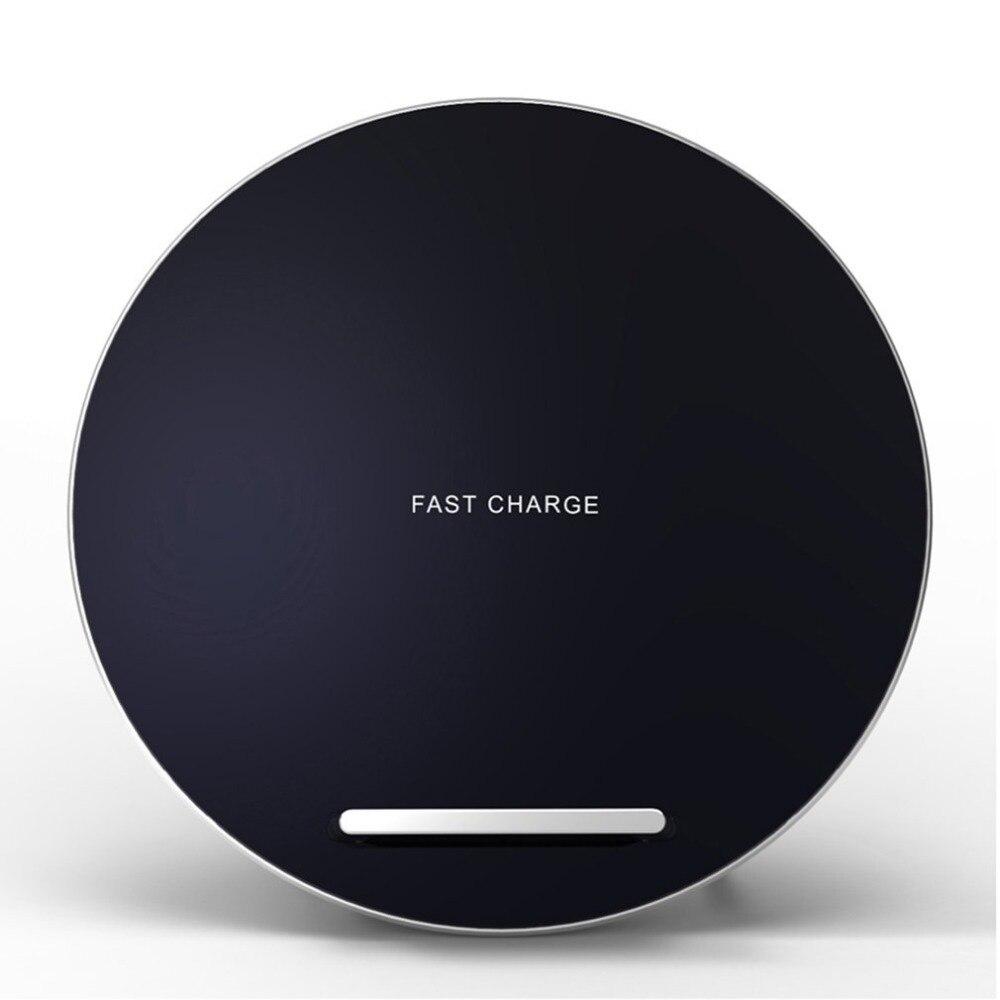 Chargeur sans fil W7 charge rapide pour iPhone 8X10 Samsung Galaxy S8 Plus Note 8 S7 Edge Dock de chargement de téléphone portable de bureau