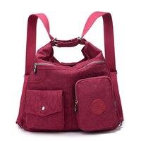 Mulheres mensageiro sacos de moda bolsa à prova dwaterproof água náilon bolsa de ombro feminino crossbody sacos para senhora casual bolsa feminina