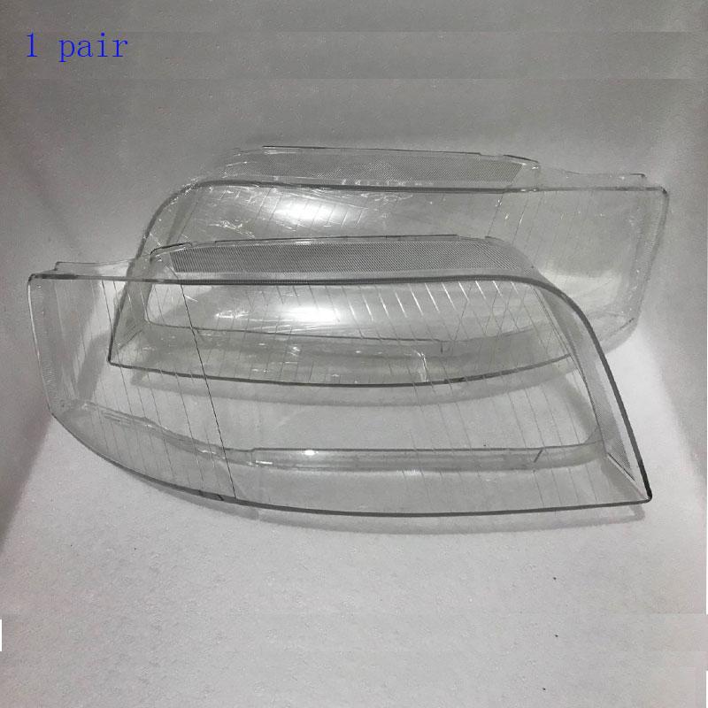 ด้านหน้าไฟหน้าไฟหน้าแก้วโคมไฟโคมไฟเชลล์ shell, ฝาปิดโปร่งใสหน้ากากสำหรับ Audi A6 C5 2003-2005