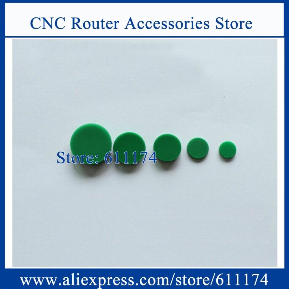 200pcs/lot Green Caps HIWIN Dustproof Covers Rail Dust Cover C5(M5 Hole) Diameter 9.5mm For EGR20/HGR20 Rail