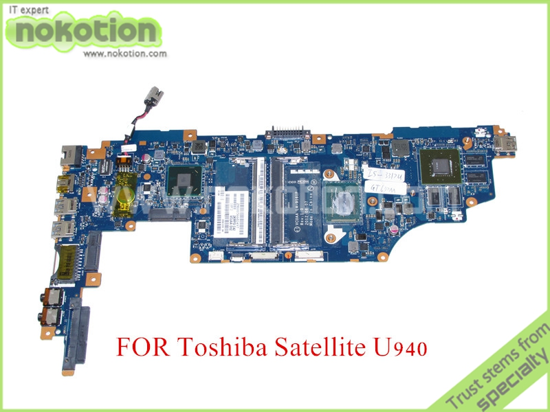 VCUAA LA-9161P MB K000136090 For toshiba satellite U940 U945 Motherboard HD4000 SR0N8 I5-3317U GeForce GT630M