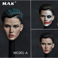 MC001 1/6 Scale spy agent Head play Ruby Rose Bodyguard Sculpt Carving Cool short Hair 12 suntan body Figure Collection