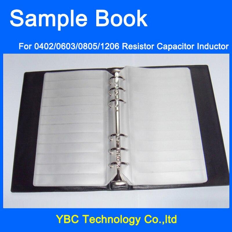 Пустые SMD компоненты конденсатора резистора, пустая книга образцов для электронных компонентов 0402/0603/0805/1206
