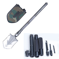 Outdoor Camping Shovels Multifunctional Military Folding Shovel Outdoor Survival Pocket Tools Aluminium Alloy Handle