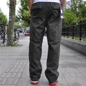 Image 5 - Autumn and winter new casual mens trousers high quality fashion multi pocket cotton overalls plus fat large size 6XL trousers