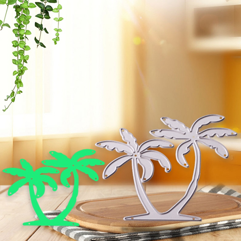 US $1 59  Metal Palm Tree Die Paper Craft Tool Decoration Cutting Dies DIY  Album Photo Scrapbooking Embossing Stencil Template Cards Decor-in Cutting