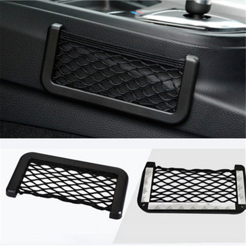 Multi-function Car Mobile Phone Storage Net Storage Supplies Car Storage Bag Storage Debris Box Car Carrying Bag Stickers