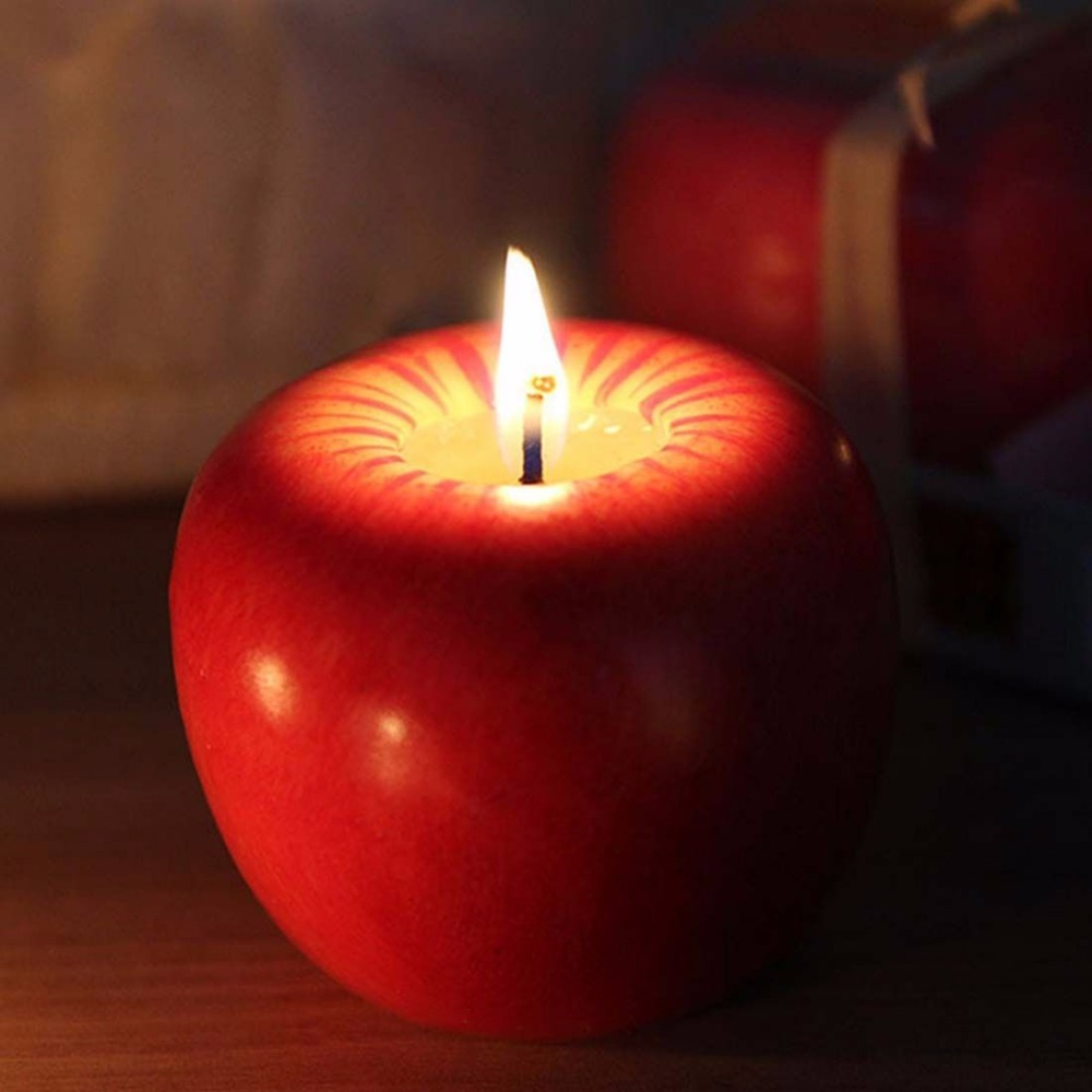 Apple decorations wedding - Christmas Eve Apple Candle Table Perfume Craft Decoration Romantic Decorations Christmas Wedding Birthday Party Supplies Cn12