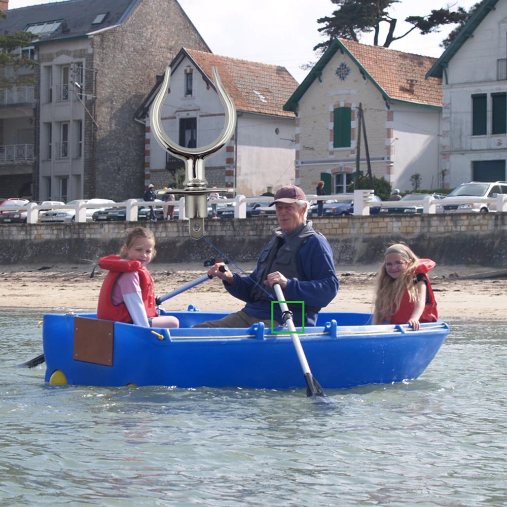 Купить с кэшбэком Stainless LifeBoat Rowlock Oar lock Marine Deck Yacht Fishing Kayak Canoe Boat Accessories 2pcs