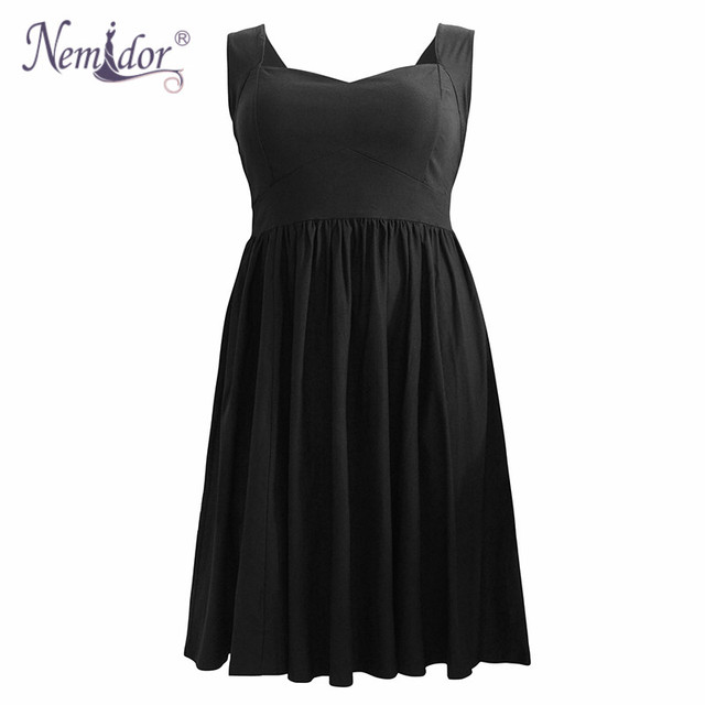 Nemidor 1950 Style Sexy Backless Vintage Swing Dress