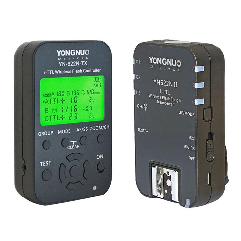 Yongnuo YN622N II + YN622N-TX i-TLL Wireless Flash Trigger Transceiver for Nikon Camera for Yongnuo YN565 YN568 Flash 2pcs yongnuo yn622n ii yn622n tx i ttl wireless flash trigger transceiver for nikon camera for yongnuo yn565 yn568 yn685 flash