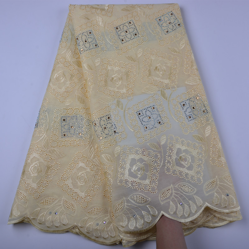 African Voile Swiss Lace Fabric African Swiss Cotton Voile Lace Fabric For Clothes Embroidery Dry Lace