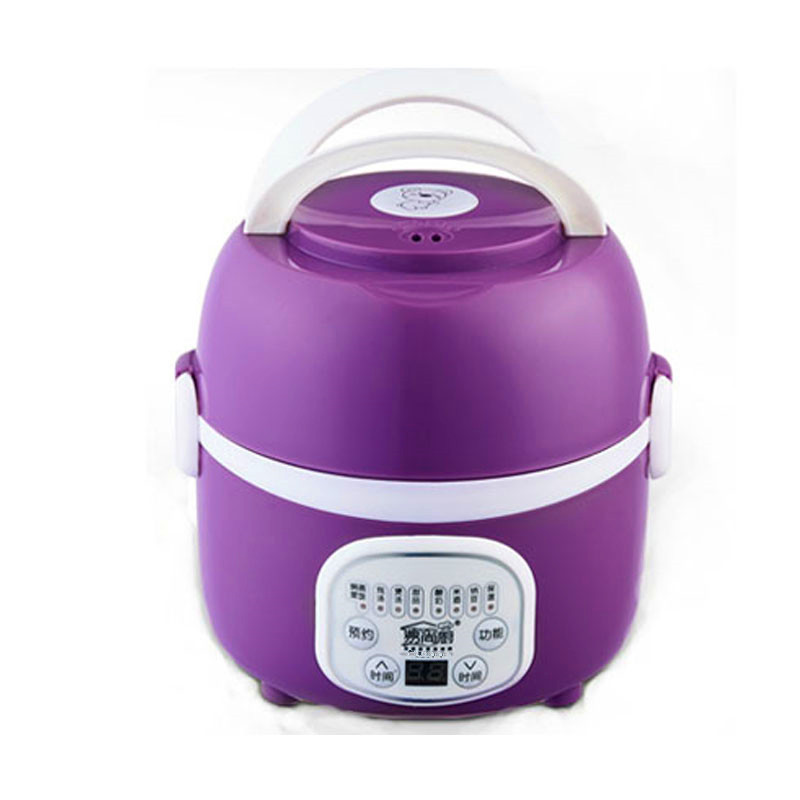 Electric Lunchbox 2 Layer Reservation Heating Cooking Insulation Rice Cooker Micro-computer Type 1.3L 1-2 People homeleader 7 in 1 multi use pressure cooker stainless instant pressure led pot digital electric multicooker slow rice soup fogao