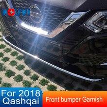 Нержавеющая сталь Передняя решетка решетки бампера накладка украшения аксессуары Подходит для NISSAN QASHQAI