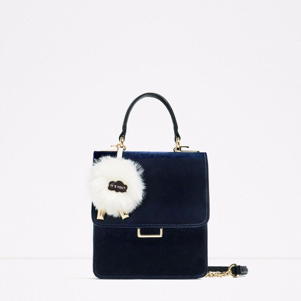 Темперамент синий бархат ремень бархат Портфель портативный диагональ сумка сумки
