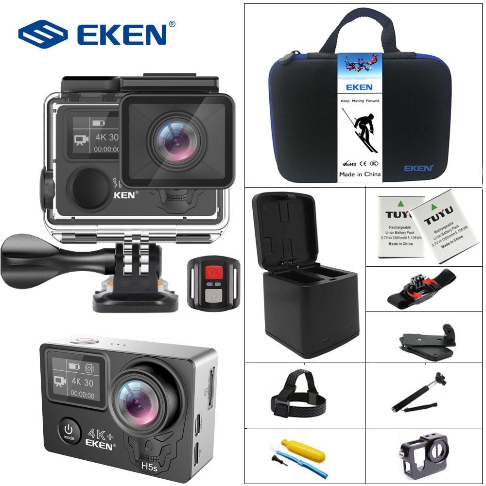 EKEN H5s Plus 4 K + caméra à écran tactile Ambarella A12 Chipset 4 K stabilisation d'image WiFi capteur Sony 2.0 pouces écran tactile