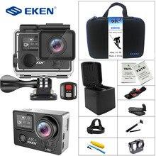 Eken H5s плюс 4 К + Сенсорный экран Камера Ambarella A12 Чипсет 4 К стабилизации изображения Wi-Fi sony Сенсор 2,0 дюймов Сенсорный экран