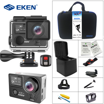EKEN H5s Plus 4K+ Touch Screen Camera Ambarella A12 Chipset 4K Image Stabilization WiFi Sony Sensor Sensor 2.0 Inch Touch Screen