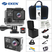 Eken H5s плюс 4 К + Сенсорный экран Камера Ambarella A12 Чипсет 4 К стабилизации изображения Wi Fi sony Сенсор 2,0 дюймов Сенсорный экран