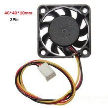 12 V Mini Pendinginan Kipas Komputer-Kecil 40 Mm X 10 Mm Brushless DC 3-Jarum Radiator Cooler(China)