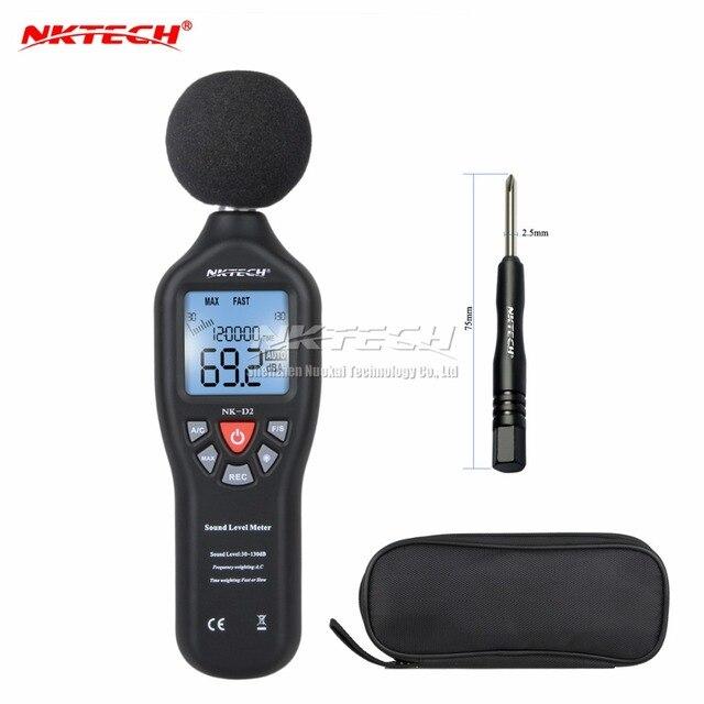 NKTECH 30-130dB LCD Digital Sound Level Decibel Meter Logger Tester Noise Measurement Time Display Auto Off Setup NKD2 VS MS6701
