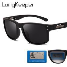LongKeeper Vintage Polarized Sunglasses Men Square Mirror  Sun Glasses Anti-glare Women Eyewear Goggles UV400 Gafas