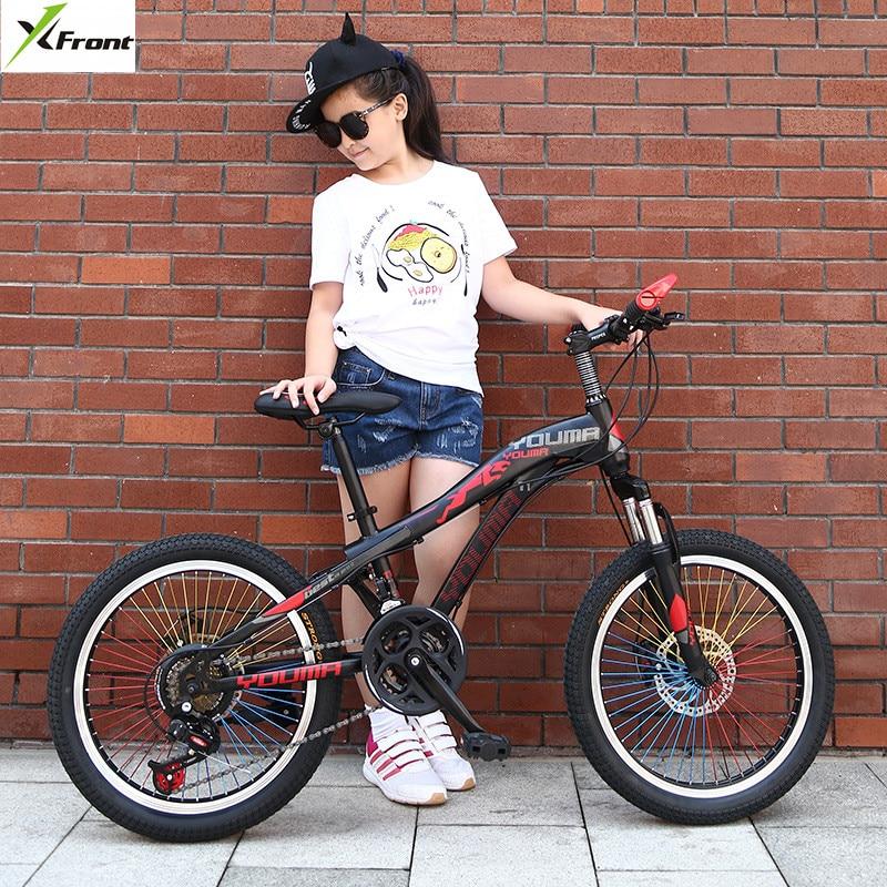 New Brand Mountain Bike Carbon Steel 21 Speed 20/24 Inch Wheel Child Lady Student Bicycle Outdoor Sport Disc Brake BMX Bicicleta