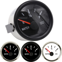 52mm Water Level Gauge 0-190ohm 240-33ohm Stainless Steel Boat Tank Indicator Tool White Black instrument
