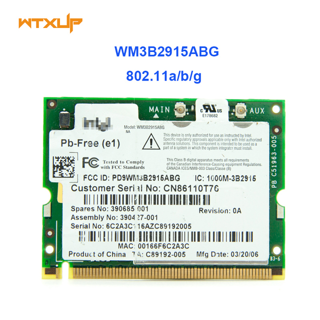 INTEL 2915 ABG WIRELESS TREIBER WINDOWS XP