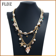 2019 New Fashion Natural Shell Necklace For Women Pendant Rope Necklaces Female Beach Jewelry Accessories
