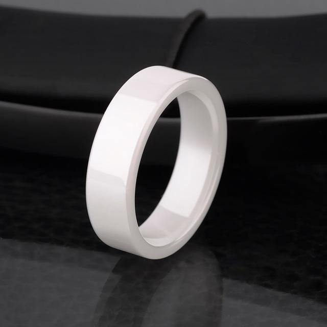 2015 New Fashinon Unisex 4mm 6mm White Ceramic Rings Scratch Proof