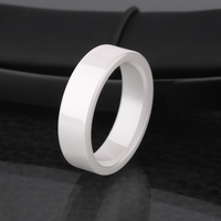 2015 New Fashinon Unisex 4mm/6mm White Ceramic Rings Scratch Proof Comfort Fit Band Size 4 11 Free Shipping and Gift Box