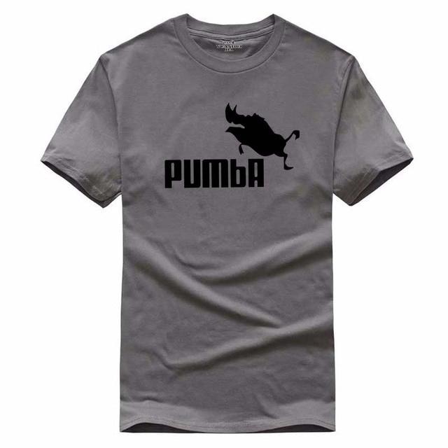 d0722b03b 2017 New funny tee cute t shirts homme Pumba men women 100% cotton cool  tshirt lovely cute summer jersey costume t-shirt