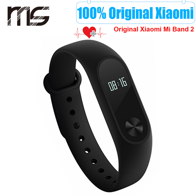 Original Xiaomii Mi Band 2 MiBand 2 Fit 2 Smart Heart Rate Fitness Wristband Bra