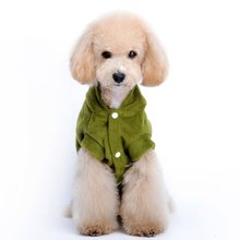 PHFU Pet Pet Hoodie Coat Garments Clothes Attire Cute Heat Inexperienced S