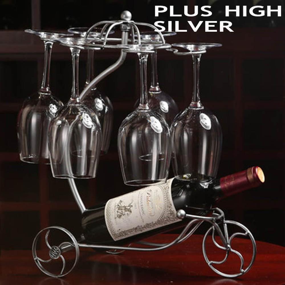 Decorative Racks Wine Bottle Holder Hanging Upside Down Cup Goblets Display Rack Iron Wine Stand Arts Design KC1283 (12)