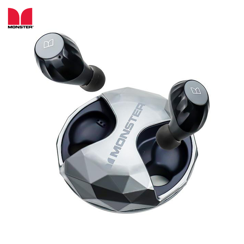 Monster AirLinks TWS In-Ear Earphone Wireless Bluetooth 5.0 Earbuds IPX5 Water Resistant Multi Function Button with Charging BoxMonster AirLinks TWS In-Ear Earphone Wireless Bluetooth 5.0 Earbuds IPX5 Water Resistant Multi Function Button with Charging Box