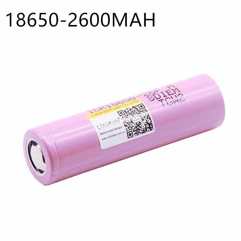 Liitokala ICR1865026FM New Original 100% For  18650 2600 mAh Li-ion Battery 3.7V Rechargeable Battery