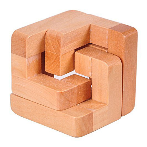 3D Wooden Interlocked Surround Lock Logic Puzzle Burr Puzzles Brain Teaser Intellectual Toy Magic