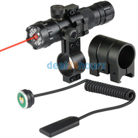 New Tactical New 532nm Red Dot Laser 2 Mounts Picatinny Rails 20mm + Pressure Switch Free Shipping