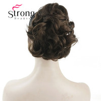 StrongBeauty Short Curly Synthetic Clip In Claw Ponytail Hair Extension Synthetic Hairpiece 80g With A Jaw