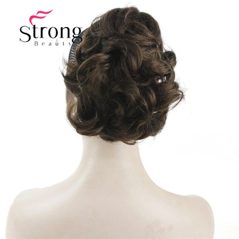 StrongBeauty Kurze Lockige Clip In Klaue Pferdeschwanz Haarverlängerung Synthetische Haarteil 80g mit ein backenbrecher/klaue clip