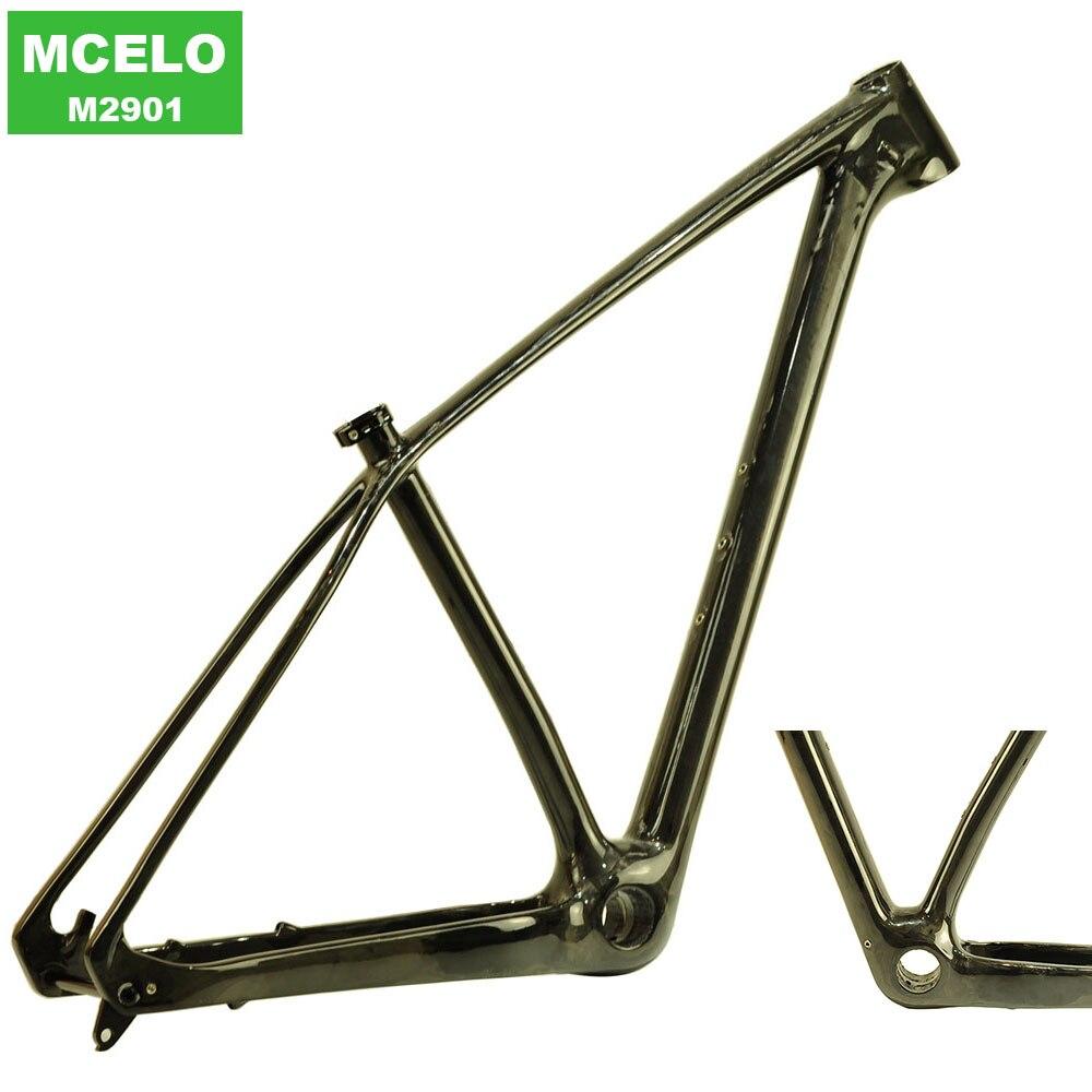 MCELO Carbon Bicycle Frame Carbon Frame Carbon Bike Mtb Frame 29er Boost With Through Axle Hanger Headset Telaio Mtb Carbon 29er