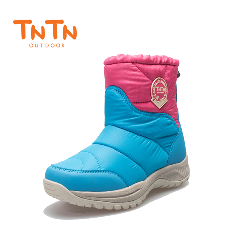 TNTN 2018 Womens Hiking outdoor winter boot wool warm short tube plus waterproof slippers female leisure cotton shoes for women