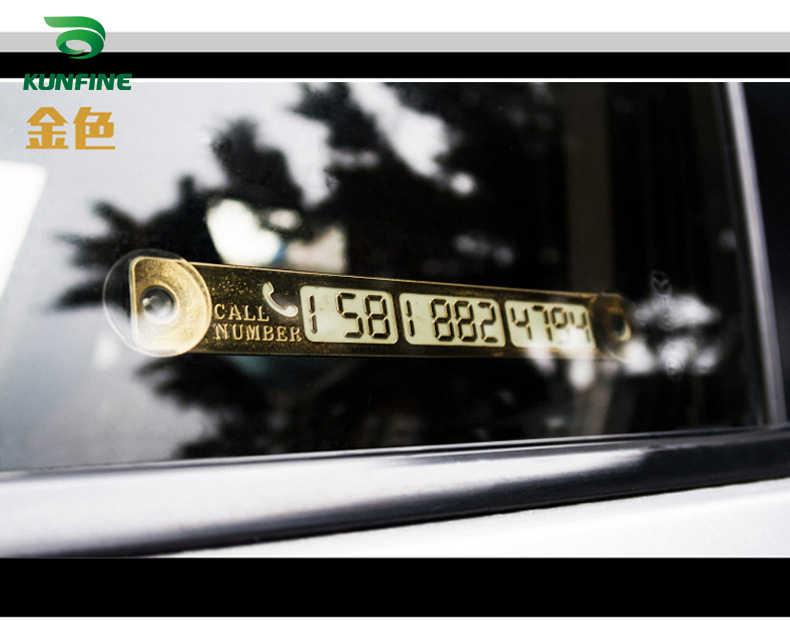 Auto Styling Luminous Temporäre Parkplatz Karte Nachtlicht Telefon Anzahl Karte Platte