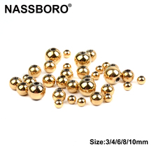 Gold Color Plated Stainless Steel Metal Beads 3mm 4mm 6mm 8m