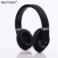 BESTCHOI מותג Bluetooth האלחוטית אוזניות סטריאו בס המוזיקה סאונד אוזניות אוזניות עם מיקרופון עבור נגן MP4 MP3 iPhone iPod