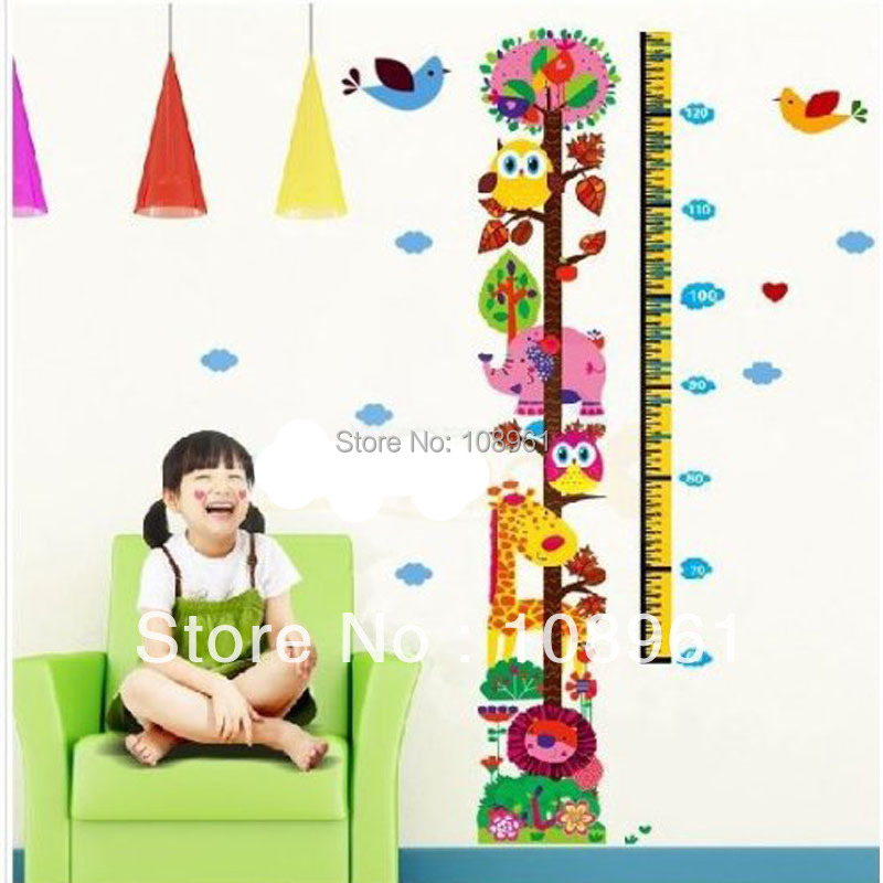 Hot Selling Growth Chart Height Measure Owl Tree Zoo For Homekids