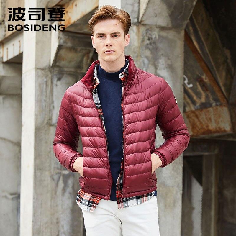 Bosideng 2017 новые мужские 90% пуховик пуховая куртка Ultra Light рано зимнее пальто весенняя куртка Высокое качество Большой размер B1701011